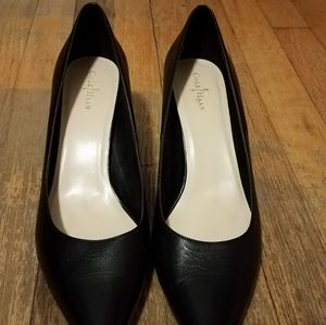 Cole Haan Black Leather Heels Size 10B